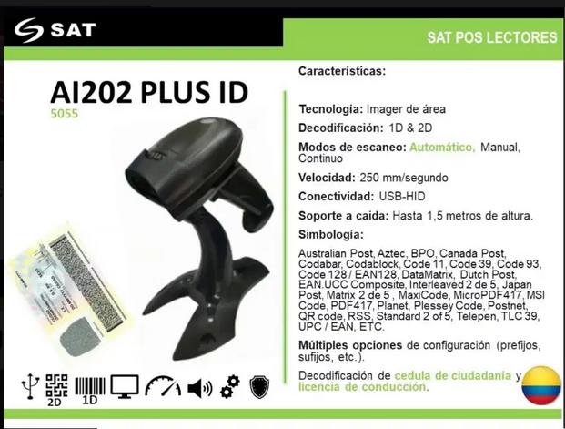 Lector de cédula colombiana-AI202 PLUS ID Moviltronix